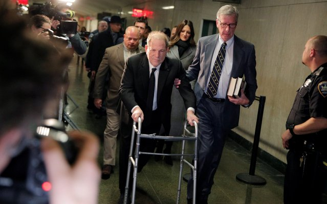Film producer Harvey Weinstein arrives for the first day of a sexual assault trial in the Manhattan borough of New York City, New York, U.S., January 6, 2020. (Photo by Brendan McDermid/Reuters)