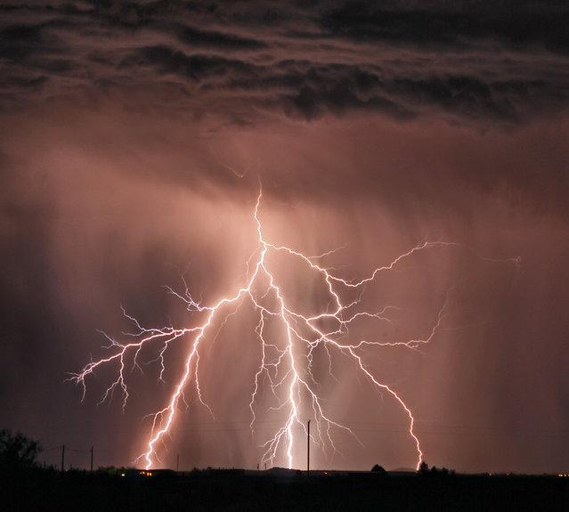Thunderstorm outside McNeal, Arizona. Sulphur Springs Valley, Cochise County. Taken on 10 Sept, 2009