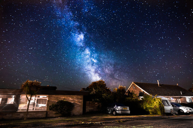 The Milky Way outside photographer Chad Powell's doorstep on July 04, 2014, in Isle of Wight, UK. (Photo by Chad Powell/Barcroft Media)