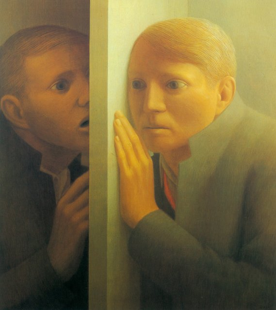 Voice I. Artwork by George Tooker