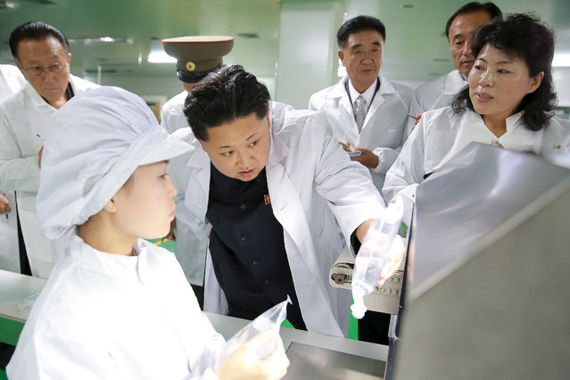 North Korean leader Kim Jong Un provides field guidance to the Jongsong Pharmaceutical General Factory in this undated photo released by North Korea's Korean Central News Agency (KCNA) in Pyongyang October 2, 2015. (Photo by Reuters/KCNA)