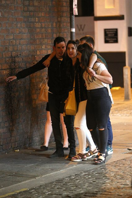 Students look worse for wear during Freshers week in Liverpool, United Kingdom on September 20, 2016. (Photo by Paul Jacobs/FameFlynet UK)
