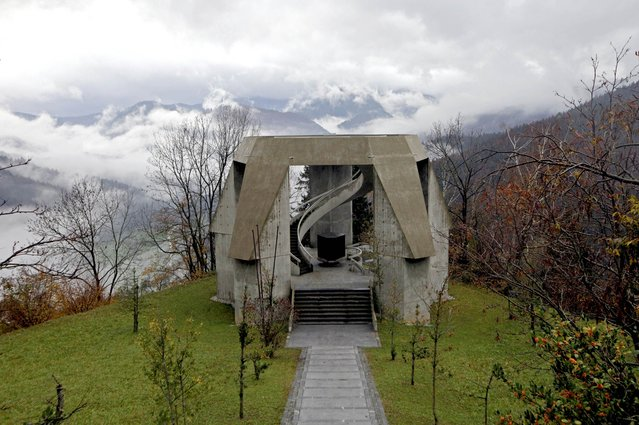 General view of a monument in memory of a battle between Slovenian partisans and the German army during the second world war in Drazgose, Slovenia, November 11, 2014. (Photo by Srdjan Zivulovic/Reuters)
