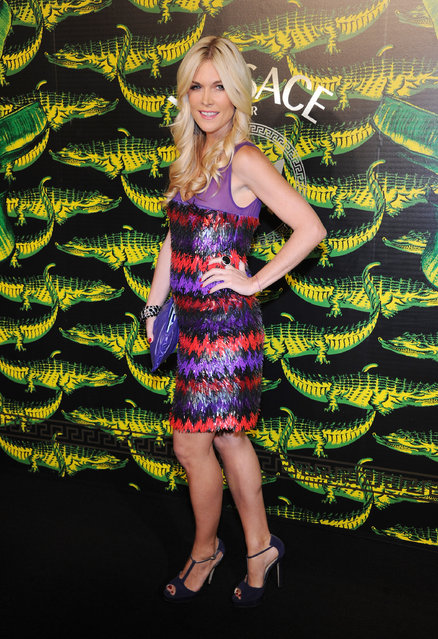 Tinsley Mortimer attends the Versace for H&M Fashion event at the H&M on the Hudson on November 8, 2011 in New York City.  (Photo by Jamie McCarthy for Versace for H&M)
