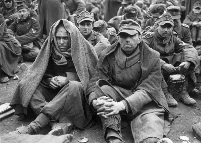 German prisoners of war at a fomer Nazi Military Academy in the 7th Army area, 17th April 1945. (Photo by Horace Abrahams/Keystone/Getty Images)