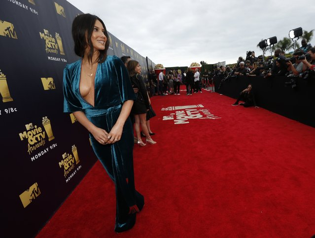 Actress Olivia Munn attends the 2018 MTV Movie And TV Awards at Barker Hangar on June 16, 2018 in Santa Monica, California. (Photo by Mario Anzuoni/Reuters)