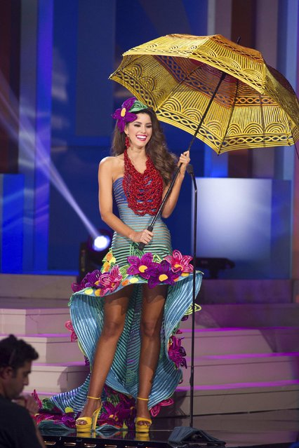 Paulina Vega, Miss Colombia 2014, debuts her national costume during the Miss Universe Preliminary Show in Miami, Florida in this January 21, 2015 handout photo. (Photo by Reuters/Miss Universe Organization)
