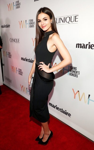 Actress Victoria Justice attends Marie Claire Young Women's Honors presented by Clinique at Marina del Rey Marriott on November 19, 2016 in Marina del Rey, California.  (Photo by Rich Polk/Getty Images for Young Women's Honors )