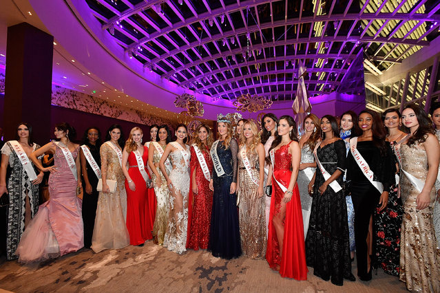 Miss World 2016 contentants attend the MGM National Harbor Grand Opening Gala on December 8, 2016 in National Harbor, Maryland. (Photo by Larry French/Getty Images for MGM National Harbor)