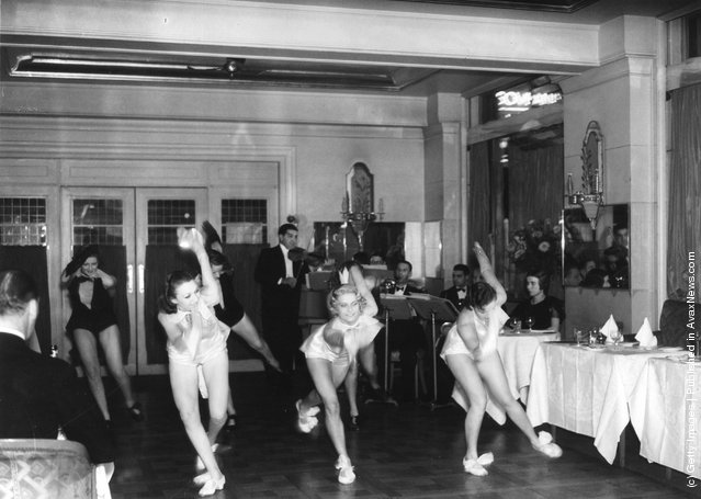 Cabaret dancers performing at the Prince of Wales Theatre