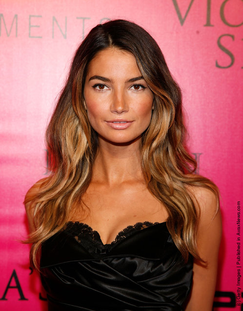Model Lily Aldridge attends the 2011 Victoria's Secret Fashion Show After Party