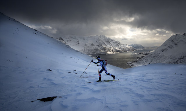 Michele Maccabelli at Lofoten Skimo on March 18, 2017 in Svolvar, Norway. The Arctic Triple – Lofoten Skimo is the first of three races. The others are Lofoten Ultra-Trail and Lofoten Triathlon. (Photo by Kai-Otto Melau/Getty Images)