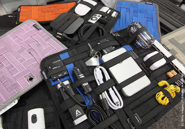 Cocoon Innovations displayed their full line of Grid-It organizers and iPad cases at the 2012 International Consumer Electronics Show