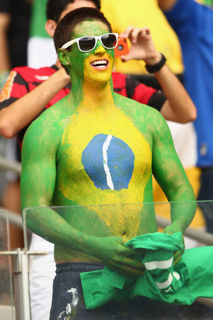 A fan looks on during the 2014 FIFA World Cup Brazil Group H match between Belgium and Algeria at Estadio Mineirao on June 17, 2014 in Belo Horizonte, Brazil. (Photo by Ian Walton/Getty Images)