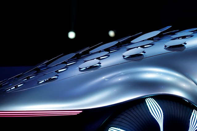 A view of the Mercedes-Benz Vision AVTR concept car, inspired by the Avatar movies, at a Daimler keynote address during the 2020 CES in Las Vegas, Nevada, U.S. January 6, 2020. (Photo by Steve Marcus/Reuters)
