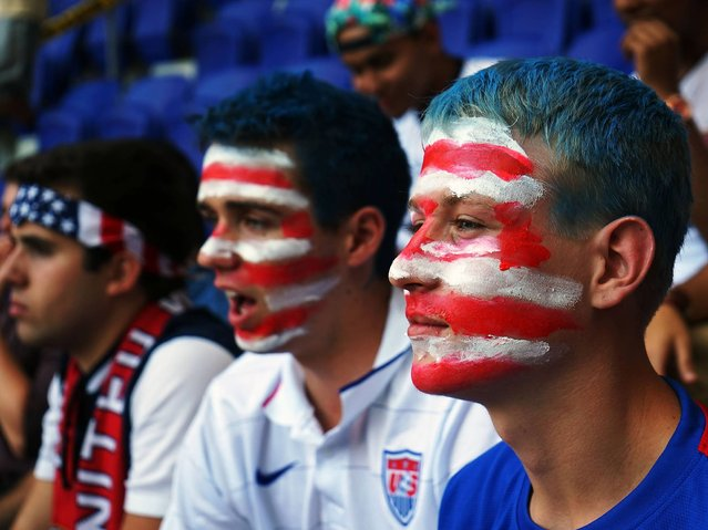 USA: New York football fans congregate in the Red Bull Arena for the USA v Ghana game. (Photo by Ashleigh Rae Staton)