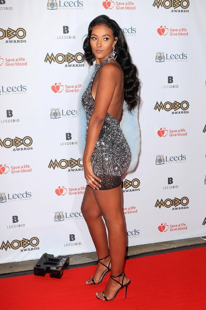 Maya Jama attends the MOBO Awards at First Direct Arena Leeds on November 29, 2017 in Leeds, England. (Photo by PA Wire)