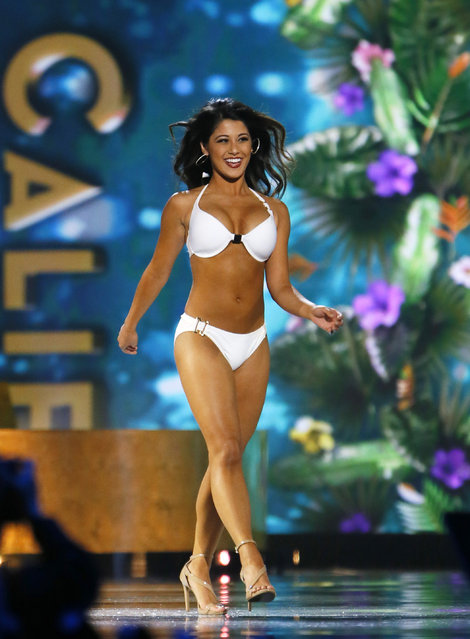 Miss California Jessa Carmack during swimsuit competition at  Miss America 2017 pageant, Sunday, September 11, 2016, in Atlantic City, N.J. (Photo by Noah K. Murray/AP Photo)