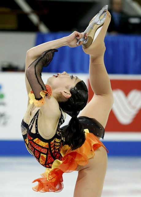 Miyu Nakashio of Japan performs during the Ladies' program at the Skate America figure skating competition in Milwaukee, Wisconsin October 23, 2015. (Photo by Lucy Nicholson/Reuters)