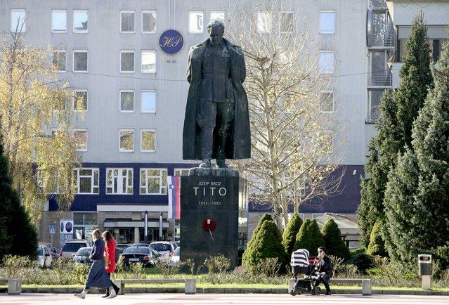 General view of a monument to Josip Broz Tito in Velenje, Slovenia November 20, 2014. (Photo by Srdjan Zivulovic/Reuters)