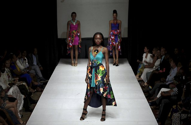 Models present creations of designer Sibylle Denis Trouat during Haiti Fashion Week 2015 in Port-au-Prince, Haiti, November 8, 2015. (Photo by Andres Martinez Casares/Reuters)