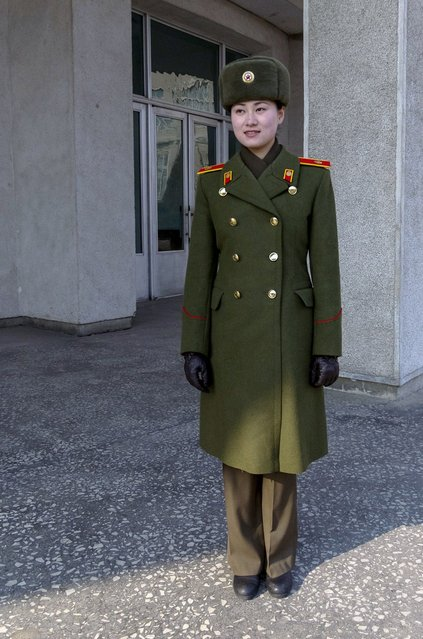 Guide at the war museum, Feburary 2012. (Eric Testroete)