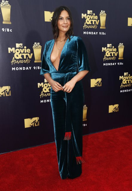 Actress Olivia Munn attends the 2018 MTV Movie And TV Awards at Barker Hangar on June 16, 2018 in Santa Monica, California. (Photo by Mario Anzuoni/Reuters)