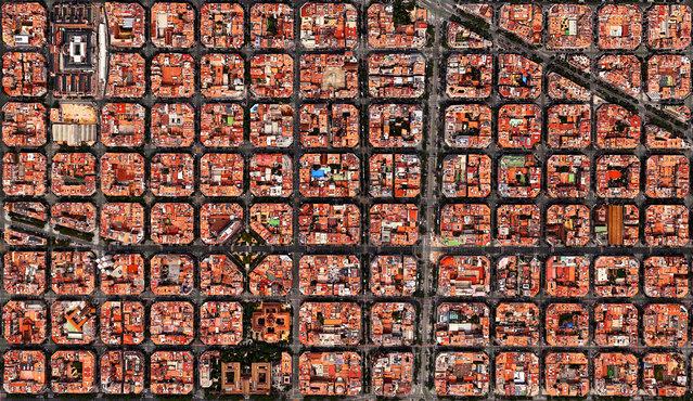 Barcelona, Spain. (Photo by Benjamin Grant/Digital Globe/Caters News)