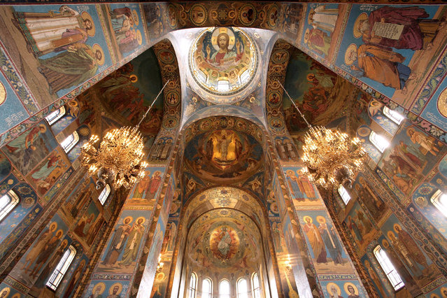 The interior of the Church of the Savior on Spilled Blood in St Petersburg, Russia containing nearly 1.9 acres of mosaics. (Photo by Martin Sasse/Laif/Redux)