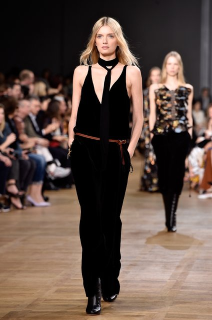PARIS, FRANCE - MARCH 08:  Model Lily Donaldson walks the runway during the Chloe show as part of the Paris Fashion Week Womenswear Fall/Winter 2015/2016 on March 8, 2015 in Paris, France.  (Photo by Pascal Le Segretain/Getty Images)