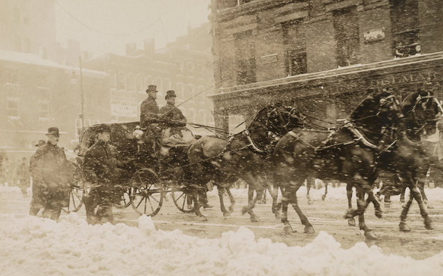 William Howard Taft and President Theodore Roosevelt head to the Capitol for Taft's inauguration in Washington, D.C., U.S. March 1909. A blizzard the night before left ten inches of snow in Washington, forcing the inauguration indoors to the Senate Chamber. (Photo by Reuters/Library of Congress)