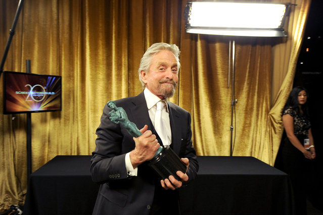 Actor Michael Douglas attends the 20th Annual Screen Actors Guild Awards at The Shrine Auditorium on January 18, 2014 in Hollywood, California. (Photo by Kevin Winter/WireImage)