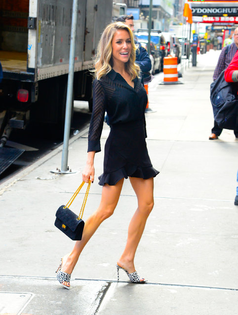 """Kristin Cavallari is seen outside """"Good Morning America"""" on April 15, 2019 in New York City. (Photo by Raymond Hall/GC Images)"""