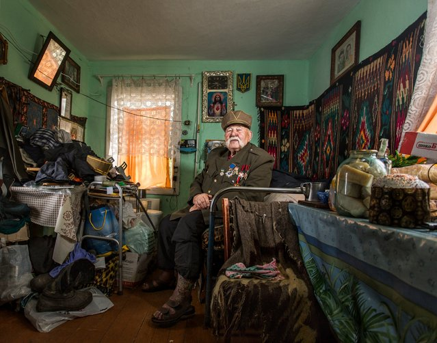 "Dmytro Verholjak, Markova, Ukraine. ""I was a kid when I joined the Ukrainian Insurgent Army. I was living in a forest with a few other kids when we were busted by the People's Commissariat for Internal Affairs"". (Photo and caption by Sasha Maslov)"