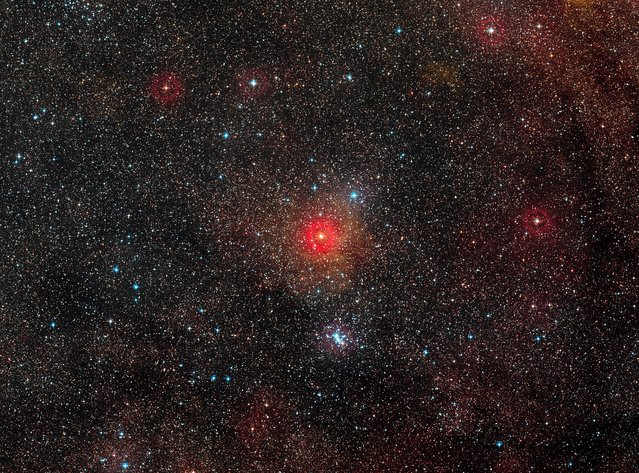 A undated handout image, made available 12 March 2014 by ESO, the European Southern Observatory, showing HR 5171, the brightest star just below the centre of this wide-field image. (Photo by EPA/ESO/Digitized Sky Survey 2 via European Pressphoto Agency)