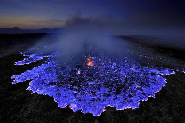 Blue Lava, Kawah Ijen Volcano, Indonesia