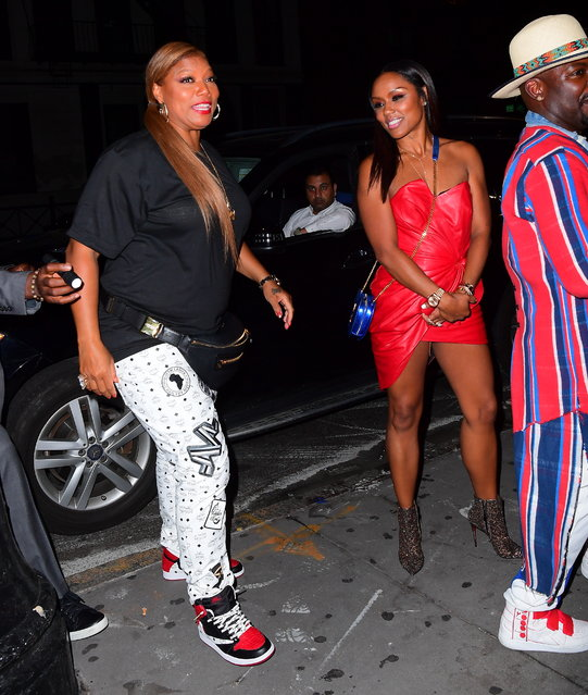 Queen Latifah and Eboni Nichols Make a Rare Public Appearance at the VMA's After Party Following Reports that they Have Welcomed a Child Together in New York on August 27, 2019. (Photo by DIGGZY/Splash News and Pictures)