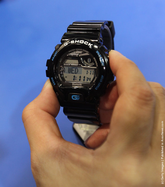 Casio displayed the GB-6900 Bluetooth enabled G-Shock watch at the 2012 International Consumer Electronics Show