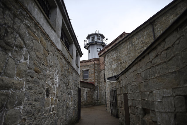 The Eastern State Penitentiary central observation tower is seen in Philadelphia, Pennsylvania April 30, 2014. (Photo by Mark Makela/Reuters)