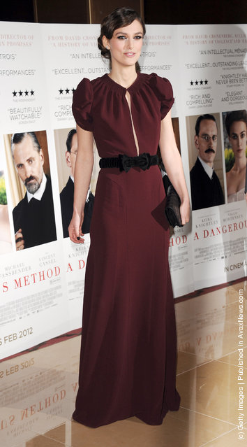 Keira Knightly attends the UK Gala Premiere of A Dangerous Method