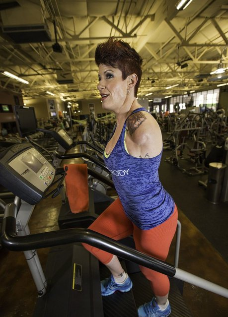 She started bodybuilding back in 2003. (Photo by Incredible Features/Barcroft Media)