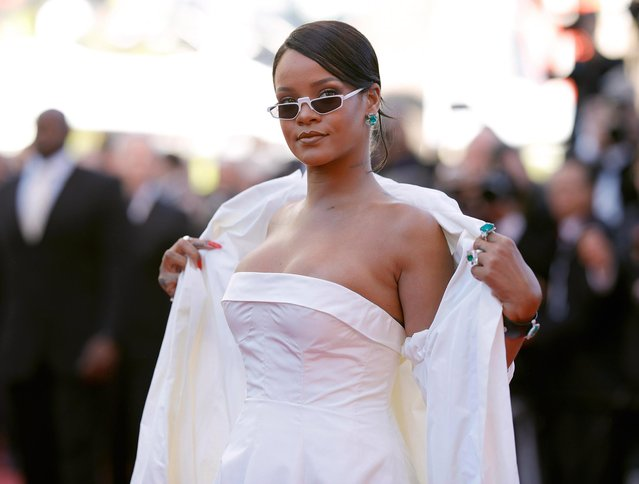 "Rihanna attends the ""Okja"" screening during the 70th annual Cannes Film Festival at Palais des Festivals on May 19, 2017 in Cannes, France. (Photo by Andreas Rentz/Getty Images)"