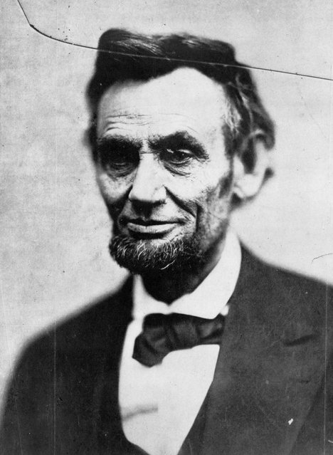 This Sunday, February 5, 1865 photo made available by the Library of Congress shows President Abraham Lincoln in Washington. This image is last photo in the president's last photo session during his life. (Photo by Alexander Gardner/AP Photo/Library of Congress)