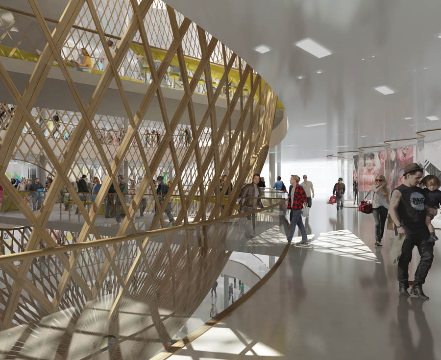 Shopping Mall Interior by Agence SEARCH