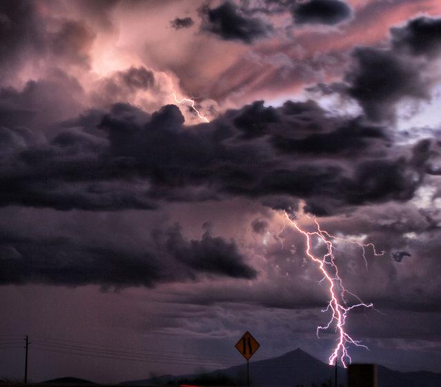 18 October, 2009. Lightning Outside Douglas, Arizona
