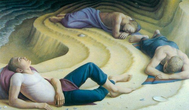 Sleepers I. Artwork by George Tooker