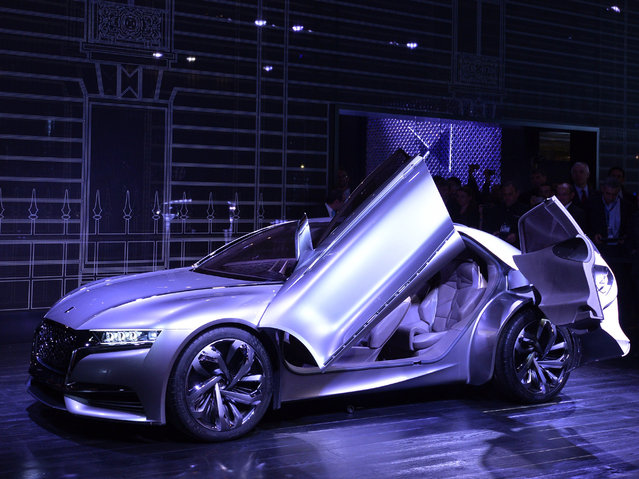The new Citroen Concept Car Divine DS is presented at the 2014 Paris Auto Show on October 2, 2014 in Paris on the first of the two press days. (Photo by Miguel Medina/AFP Photo)