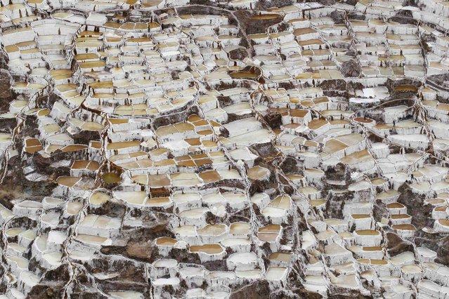 A view of salt ponds at the Maras mines in Cuzco December 3, 2014. (Photo by Enrique Castro-Mendivil/Reuters)