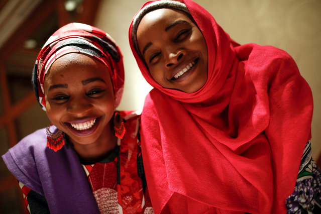 Hauwa (L) and Ya kaka, identified only by their first names, former captives of Boko Haram militants in Nigeria and now acting as advocates speaking out on behalf of other captives and survivors, pose for a portrait after they appeared on a panel dealing with issues of violence against women in New York City, U.S., March 13, 2018. (Photo by Mike Segar/Reuters)