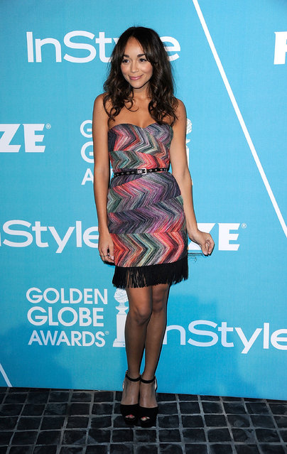 "Actress Ashley Madekwe arrives at The Hollywood Foreign Press Association (HFPA) and InStyle Presents ""A Night Of Firsts"" at Cecconi's Restaurant on December 8, 2011 in Los Angeles, California.  (Photo by Frazer Harrison)"